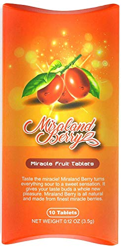 MiralandBerry Miracle Fruit Tablets, Miracle Berry Tablets, 10 Count, Turns Sour Foods to Sweet | On Sale