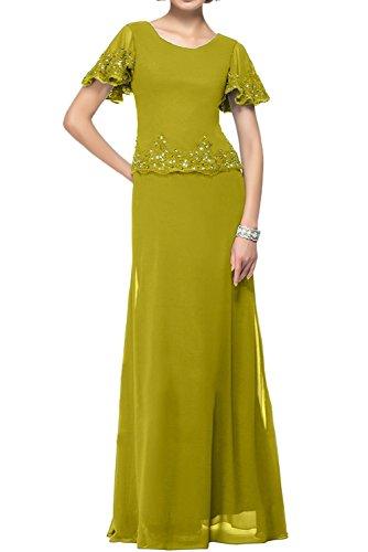 Abendkleider Kurzarm Partykleider Festlichkleider Marie Damen Fuchsia Promkleider Brautmutterkleider La Braut Olive Gruen wUYFFq