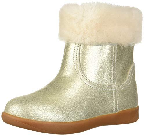 UGG Girls' T Jorie II Metallic Fashion Boot, Gold, 9 M US Toddler ()