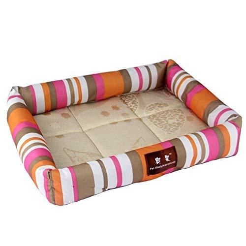 2 XL 7060cm 2 XL 7060cm HeiPlaine Pet Sofa Pet Bed Summer Cool Pet Nest Kennels Biting Resistant Cool Mat Dog Pad Pet Supplies Cat Nest (color   002, Size   XL 70  60cm)