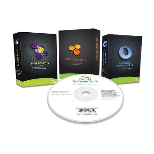 Nuance Software Bundle, Includes Paperport 14, PDF Converter 7, Omnipage Professional 18, CD-ROMs (Photo Pro Cd)