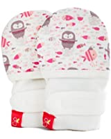 Goumikids Goumimitts Soft Stay On Scratch Mittens - Stops Scratches and Germs