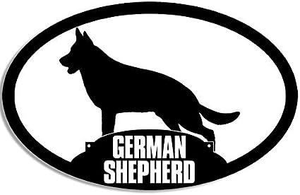 Good Shepherd Rescue German Shepherd American Flag Vinyl Window Decal Sticker