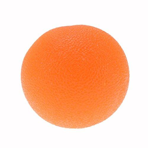 MKChung High Elastic Grip Ball, Silicone Jelly Feel Hand Training Ball/Wrist Force Training Ball(Orange)