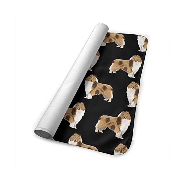 Rough Collie Dog Fabric Cute Rough Collie Print Pattern for Sewing Quilters Cute Dog Design Baby Portable Reusable Changing Pad Mat 25.5 x 31.5 4