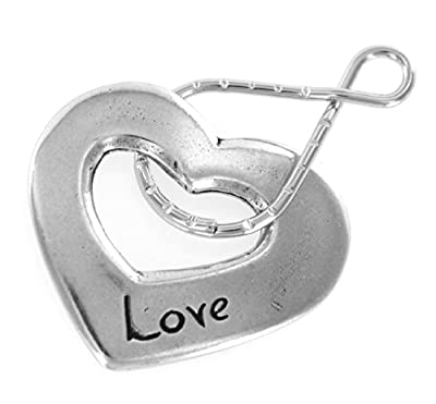 Love Heart Blessing Ring Keychain