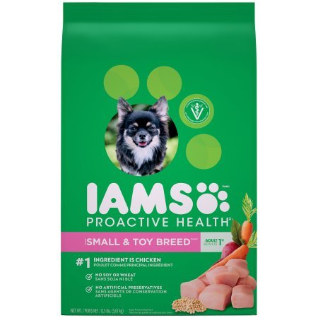PACK OF 2 - IAMS PROACTIVE HEALTH Small and Toy Breed Adult Dry Dog Food 12.5 Pounds