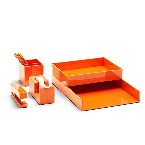 (Poppin All Set, Desk Collection Set, Orange)
