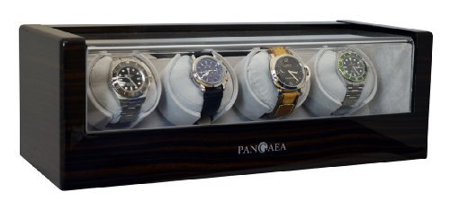 Pangaea Quad Automatic Watch Winder Q480 (Dark Cherrywood)