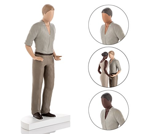 Wedding Cake Topper Figurines - Also Perfect for Anniversaries or Engagements. Mix & Match in ANY Combination and Choose from our Rustic Range of Beautiful Brides and Grooms. Light Skin Tone Male -