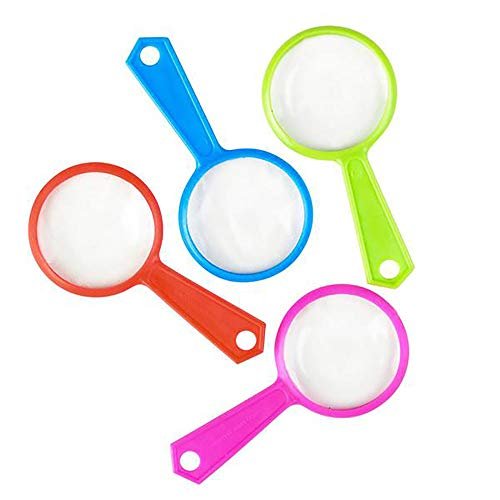Kicko Magnifying Glasses - 144 Pack of Plastic Enlarging Glasses, Party Favors or Loot Bags Fillers, Ideas, Children Educational Toy, Finding Easter Eggs Gadget, Party Prizes (Laboratory Apparatus And Equipments And Their Uses)