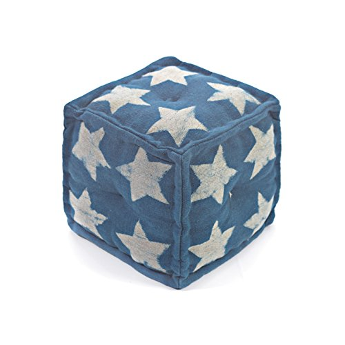 Eclipse Home Collection Stella Pouf 15'' L x 15'' W x 15'' H