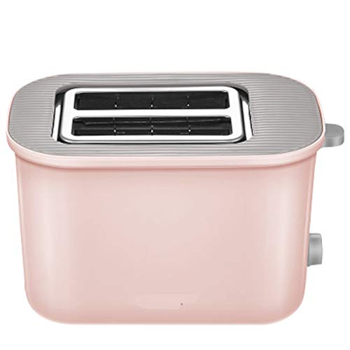 Compact Fast Breadmaker, New Toaster Home 2 Multi-function Breakfast Machine Toaster Automatic Spit Driver Toast Small, 220v Pink