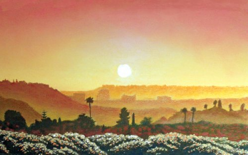 Northwest Art Mall Mission Valley Sunset Artwork by David Linton, 11-Inch by - Valley Mall Mission