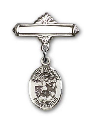 Icecarats Créatrice De Bijoux En Argent Sterling St. Michael Broche Le Badge De Charme Archange 1 X 5/8
