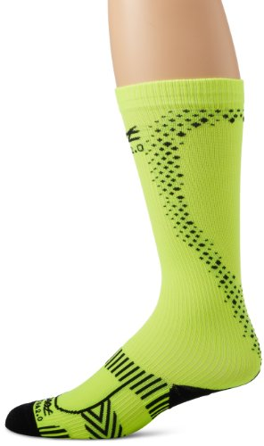 Zoot Sports Men's Ultra 2.0 CRX Socks, Safety Yellow/Black, - Triathlete Gomez