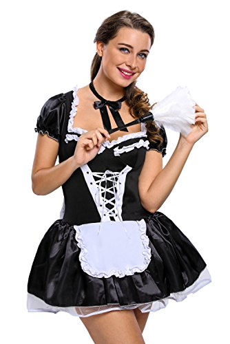 Private Maid Costumes (Adam's Temptation Mischievous Maid Sexy Costume Set (One Size))