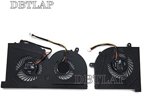 DBTLAP Nuevo CPU+GPU Ventilador para MSI GS63 GS63VR GS73 GS73VR MS-16K2 MS-17B BS5005HS-U2L
