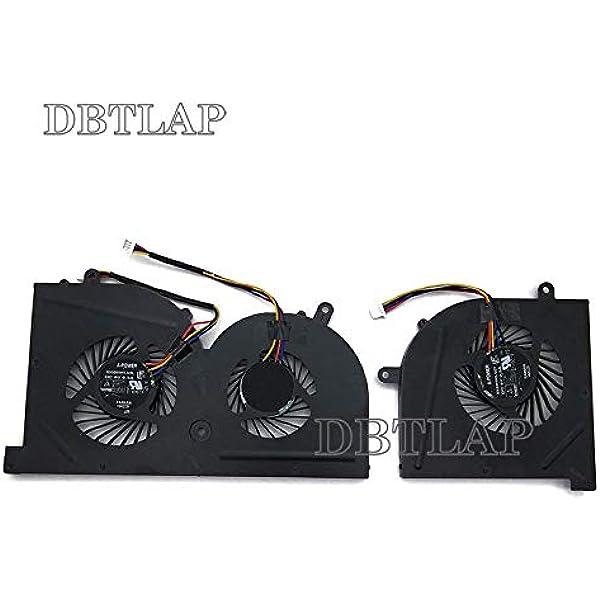 DBTLAP Nuevo CPU+GPU Ventilador para MSI GS63 GS63VR GS73 GS73VR ...