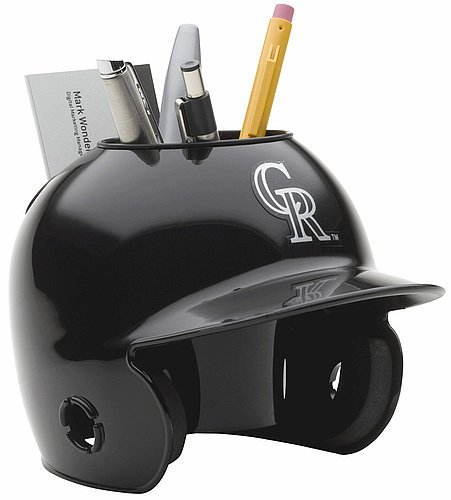 Schutt MLB Colorado Rockies Authentic Mini Batting Helmet Desk ()