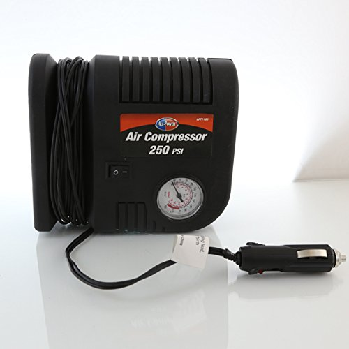 All-Power Portable Air Compressor 250 PSI 12 Volt With Car Charger All Power