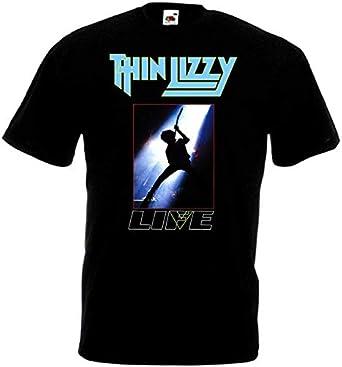 Thin Lizzy - Live v18 T-Shirt Hard Rock Black Blue Navy Blue S-5XL ...