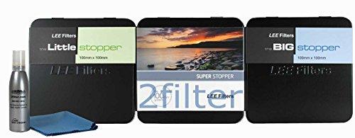 Lee Filters 100mm Stopper Kit - Lee Super Stopper, Lee Big Stopper & Lee Little Stopper with 2filter Cleaning Kit