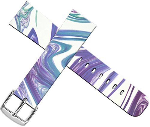 Swirl Band Design - Strap Compatible for Apple Watch Series 4/3/2/1 38mm/40mm Sport - ENDIY Designer Leather Fashionable Band Replacement for Iwatch Creative Purple Creative Pattern