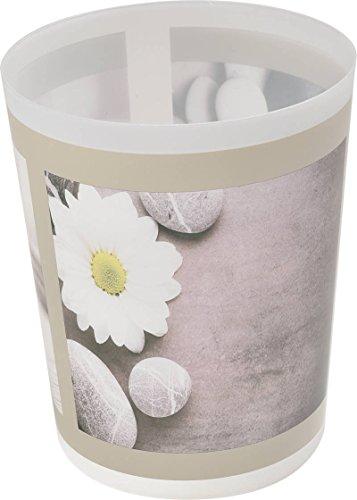 EVIDECO Printed Bathroom Floor Trash Can Waste Bin 4.5 L/1.2 Gal, Zen Garden, (Haven Round Bowl)