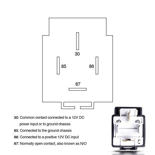 MICTUNING 12V 30A Relé de Coche con Arnés de Enchufes, 5 Pin Terminal SPST Vehículo Auto Barco Carro Relé Relay Relais Relés, Paquete de 6: Amazon.es: Coche ...