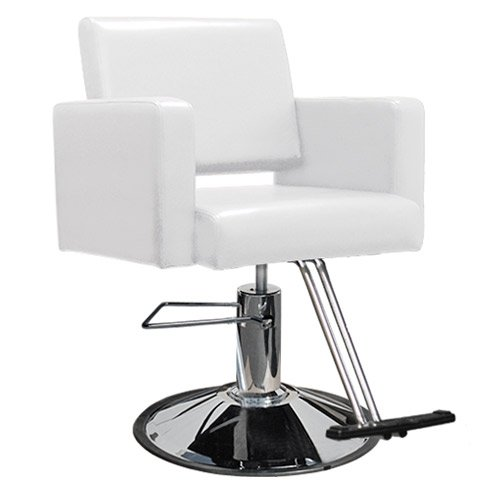 hair styling chair white professional hair salon equipment styling 2 2374