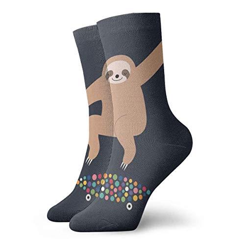 ZOZGETU Short Socks Crew Sock Hip Hop Sloth 3D Printed Sport Athletic Socks 30cm Long Socks