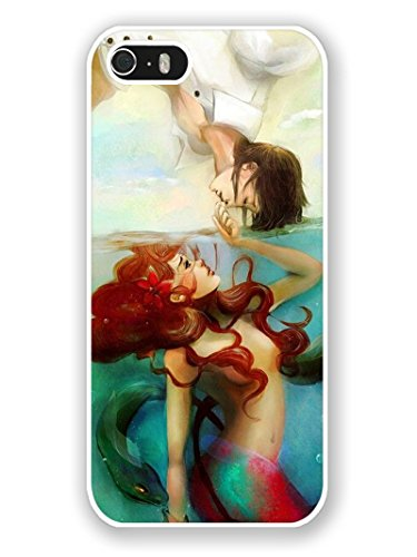 Price comparison product image iPhone 5S Phone Case, Little Mermaid Popular Gifts Case Cover for iPhone 5, 5S and iPhone SE(White)