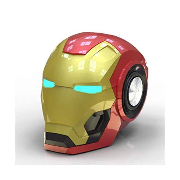 Mini Haut Parleurmini Iron Man Haut-Parleur sans Fil Puissant Enceintes Portables Ordinateur Cadeau Novateur Pratique Radio Musique 1