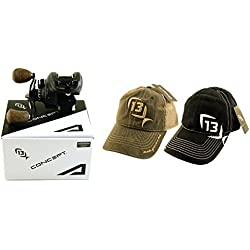 Bundle - 13 Fishing Concept A A7.3-RH 7.3:1 Right Hand Baitcast Fishing Reel with Hats