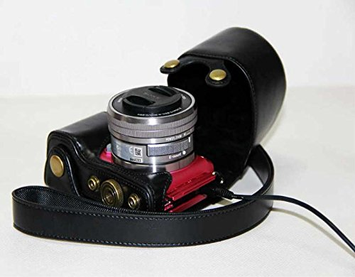Protective Leather Case Bag for Sony Alpha A5000 (16-50mm Lens) Digital Camera (Black)