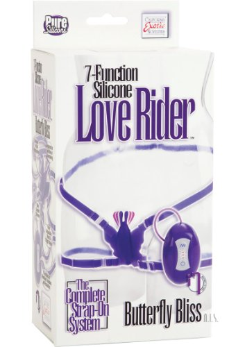 7 Func Silicone Love Ride Butterfly Purp