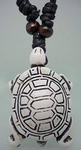 - 1pc Tortoise Wooden Bead Adjustable String Resin Pendant Necklace NU0L