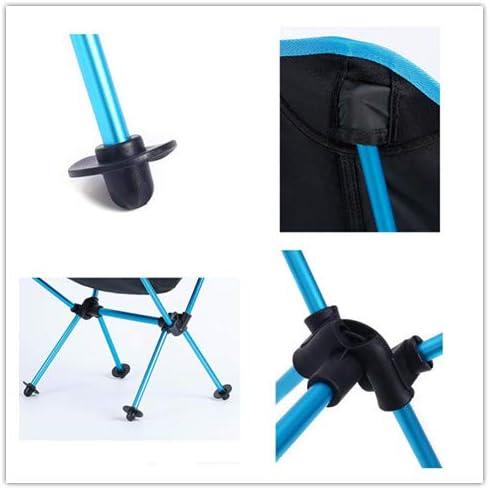 Chaise de pêche Pliante Noire de ZJING Chaise en Aluminium Ultra légère et Portable
