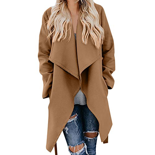 CUCUHAM Womens Winter Lapel Wool Coat Trench Jacket