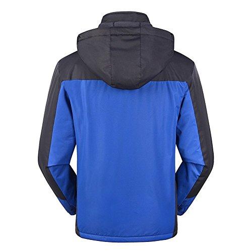 Sportif Homme Coupe Capuche Étanche Veste Showu Manteaux pluie Imperméables vent Anorak Imperméable Coupe Manteau Bleu À taz7zqw4dx