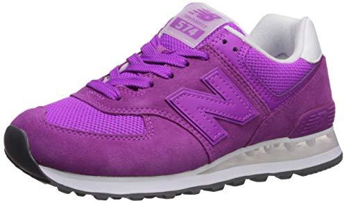 New Balance Women's Iconic 574 V2 Sneaker, Voltage Violet/White, 8 B US
