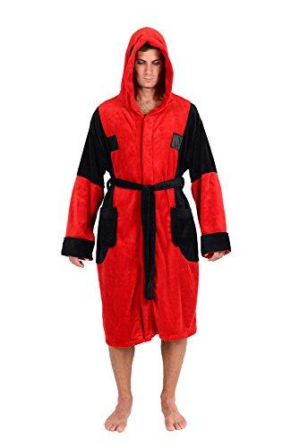 Marvel Universe Deadpool Adult Fleece Costume Robe (Adult Deadpool Costume)