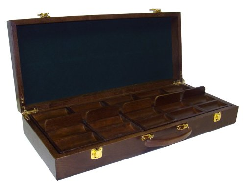 Quality Walnut Wooden 500 Chip Poker Case by Poker