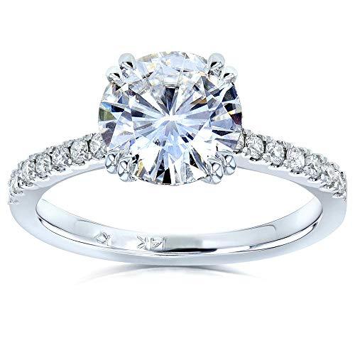 affordable Kobelli Moissanite and Lab Grown Diamond Engagement Ring 1 3/4 CTW 14k White Gold (FG/VS, DEF/VS), 7