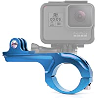 DURAGADGET Ultra-Strong Forged Aluminium Handlebar Mount in Blue For GoPro Hero 4 Session, HERO 4, 3+, 3, 2, 1 & HD Hero, Naked / Helmet / LCD BacPak (Black, White, Silver, Surf, Outdoor & Sport Editions)
