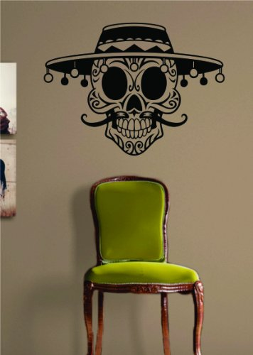 Mexican Sugar Skull Decal Sticker Wall Vinyl Day of the Dead