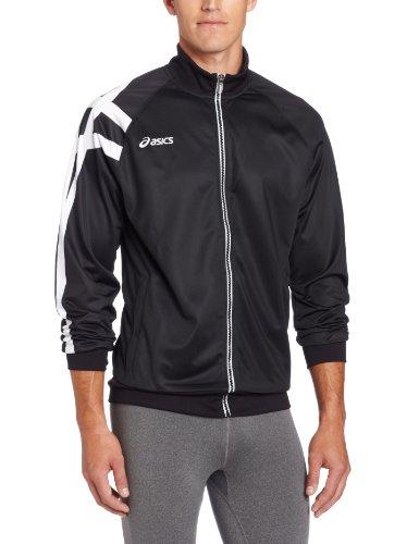 ASICS Men's Team Tiger Jacket (Black), Medium