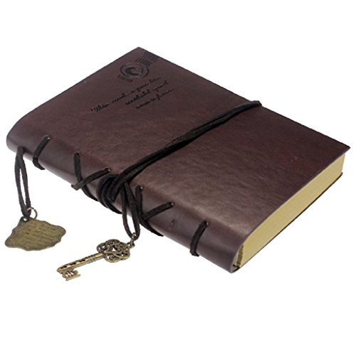START Vintage Magic Key String Leather Dark Brown Diary Notebook by Start (Image #2)