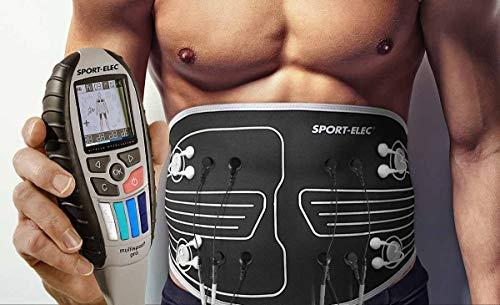 Wiederaufladbarer Akku Training Sport Muskelaufbau Fitness Sport-Elec Elektrostimulationsger/ät Weste Set mit Arm Trainer Plus MSP Pro